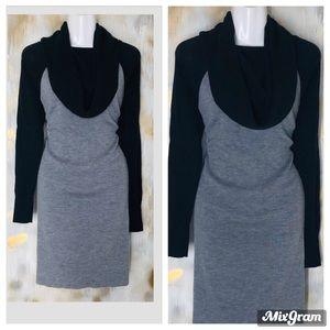 Cynthia Rowley 100% wool cowl neck Sweater Dress